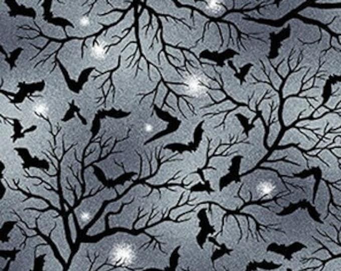 Studio E - Spooky Night - Tossed Bats  - Bats - 5724-79  - Ink  - Halloween  - Sold by the Yard