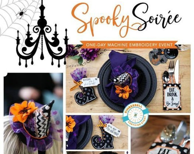 Kimberbell - Spooky Soiree -Virtual Event -Sep 20, 2021- Machine Embroidery Event -1 Day Virtual Event - Class from the Comfort of your HOME