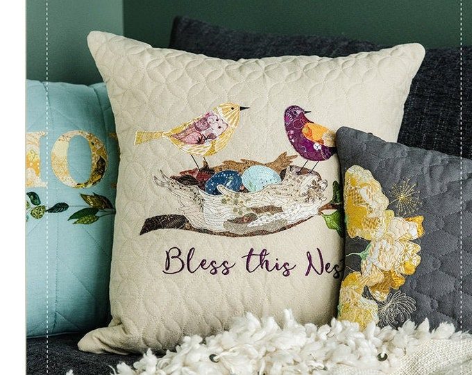 Kimberbell - Emma's Collage Pillows - Embroidery CD - Collage Designs - Sold by the Embroidery CD