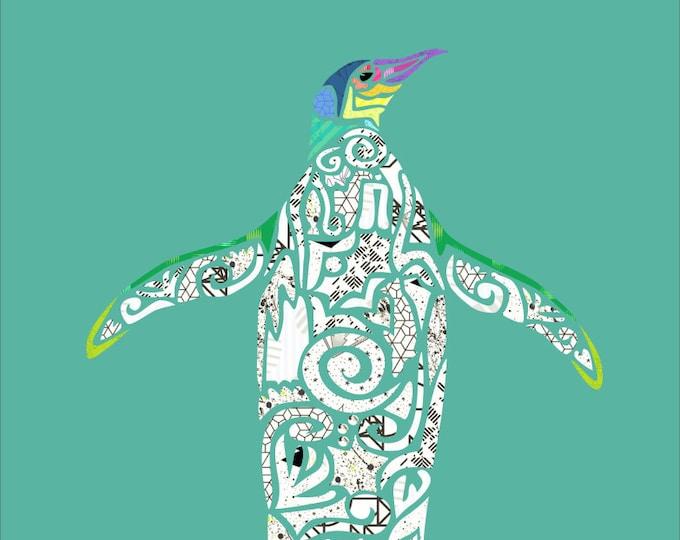 Picasso Penguin - Pemguin Applique - Penguin - Precut/Prefused - Applique Kit including Pattern