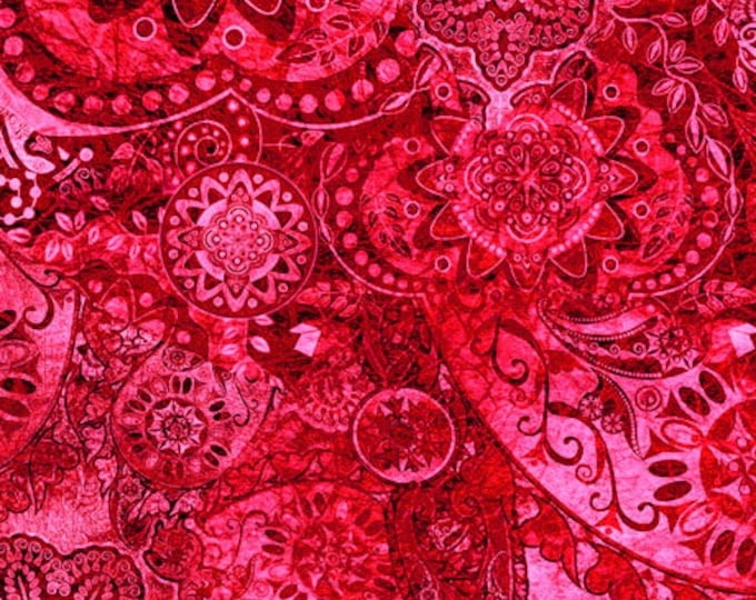 Quilting Treasures - Bohemian Rhapsody - Ombre - 26956RP -  Strawberry Fields  - Fabric - Sold by the Yard