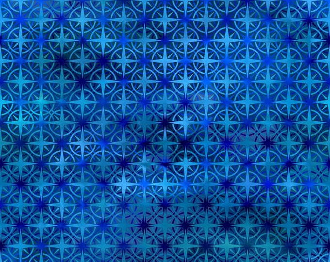 In the Beginning Fabrics - Calypso - Jason Yenter - Deep Blue Compass  - 8CAL1 - Sold by the Yard