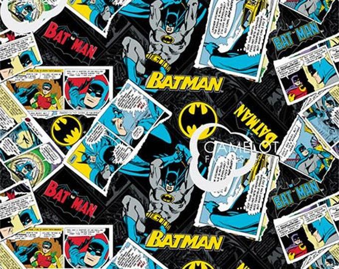 Camelot - Batman - DC Comic Fabric  - Batman 80th Anniversary - Batman Fabric - Sold by the Yard