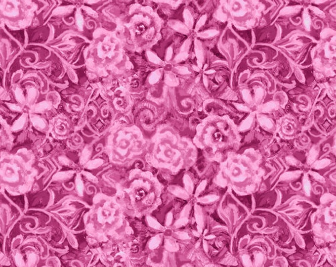 Blank Quilting - Papillon Parade - Tonal Floral - Pink - 9369-22 - Sold by the Yard