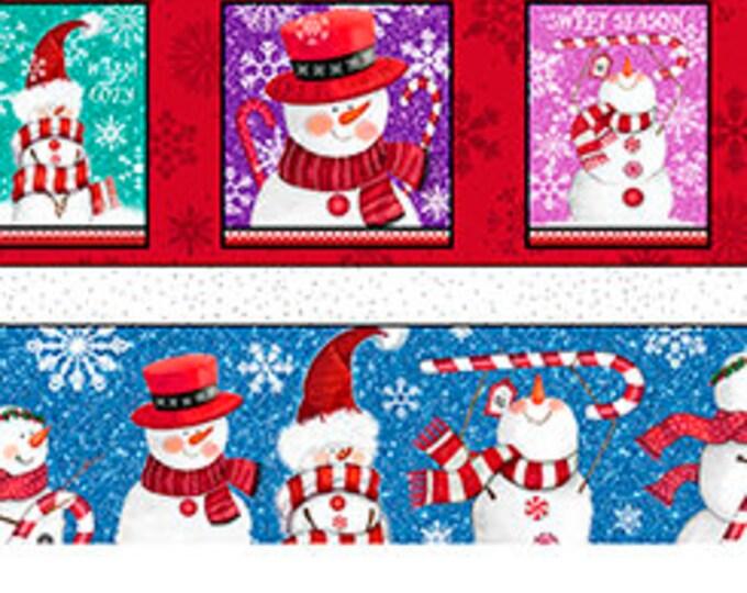 Quilting Treasures - Sweet Season - Snowman - Snowman Stripe - 24504-X