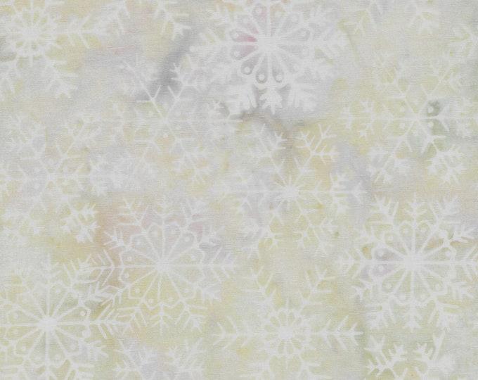 Island Batik - Large Snowflake - Snowflake Batik -  Batik -  Opal - Cream - White - Neutral  - Sold by the Yard