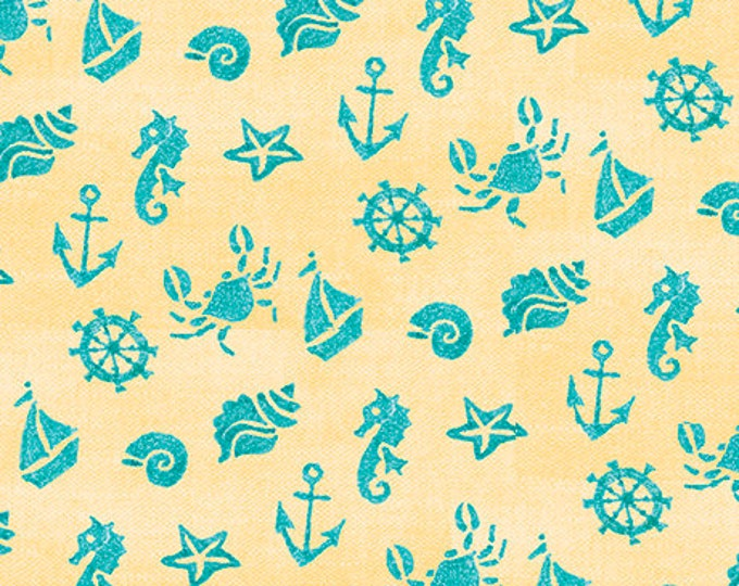 Quilting Treasures - Mermaid Merriment - Sea fabric  -  Sold by the Yard- 265237