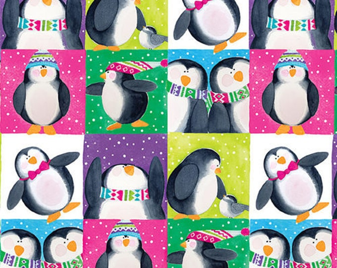 Blank Quilting - By Golly Let's Be Jolly - Penguins - Box Penguins - Multi - 9563-66 - Sold by the Yard