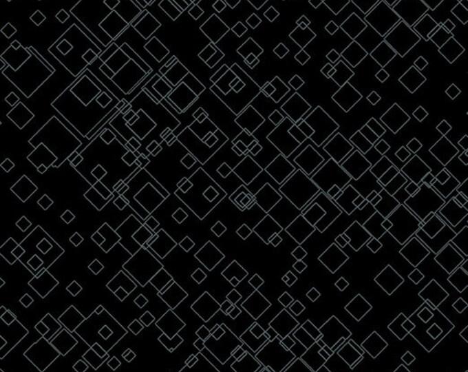 Benartex -  Dog On It - Tonal Squares  - Black - 7549M12B  - Sold by the Yard
