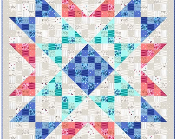 "Quilting Treasures - Sweet Caroline - Quilt Kit - Floral Quilt Kit - Backing Included  - Quilt Kit - 52""x52"" -  Sold by the Kit"