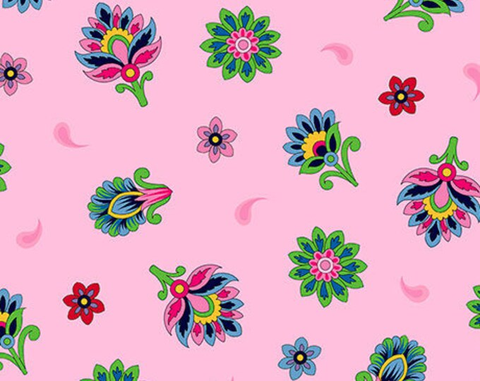 Quilting Treasures - Imperial Paisley - Pink Paisley - Fabric by the Yard - 26038 P
