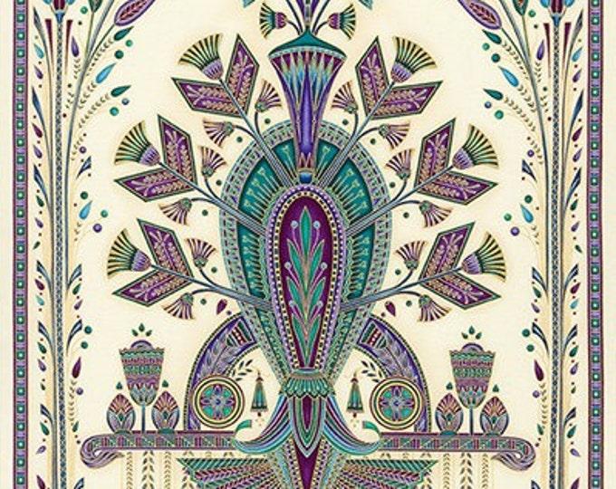 Robert Kaufman - Valley of the Kings 2 - Jewel Panel- Medallion Design Fabric