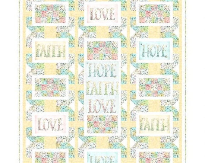 "Quilting Treasures - Sweet Thoughts - Quilt Kit - 54""x64"" Quilt - Sold by the Kit - Includes fabric for top and binding"