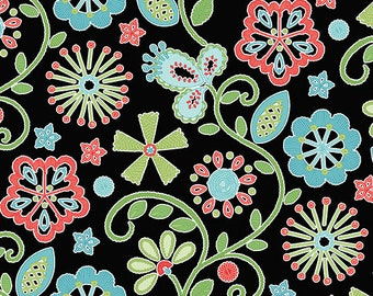 13f43024ebf Benartex - Contempo -Sewing Room - by Amanda Murphy - Embroidery - Black -  3403-12 - Sold by the Yard