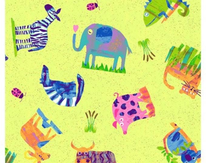 """Clothworks - Animal Magic - Animal - ABCs - 36"""" x 44"""" -  y2891-56 - Sold by Yard"""