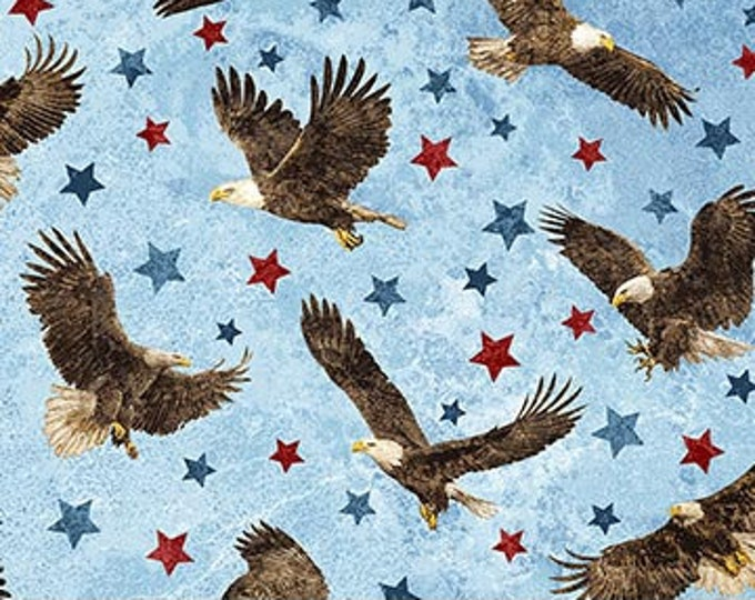 Northcott - Stars and Stripes VII - Stonehenge -  39436-42  - Eagle Fabric - Eagle -  Valor - Sold by the Yard