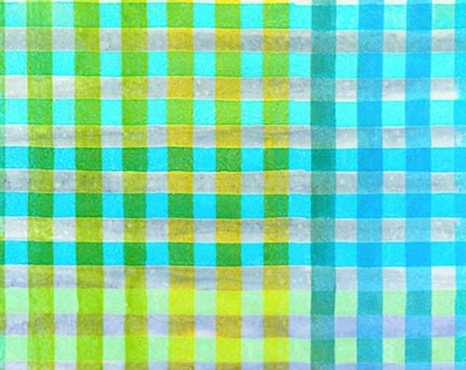 Robert Kaufman - Hand Painted Gingham - Batik -  AMD-17769-287 - Gingham Plaid Batik - Sweet - Sold by the Yard