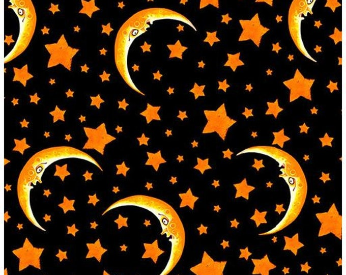 """Blank Quilting - Witchful Thinking  - Moon and Stars -  1538-99 - 36""""x44"""" - Halloween - Sold by the Yard"""