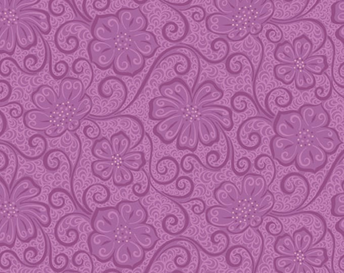 Benartex - Contempo - Meadow Dance - by Amanda Murphy - Floral Blender  - Plum - 4044-66 - Sold by the Yard