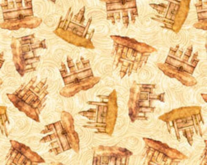 "Quilting Treasures - Sea Serenade  - Mermaid - Sand Castles  - Cream  -  36""x44""  - 27195E - Sold by the Yard"