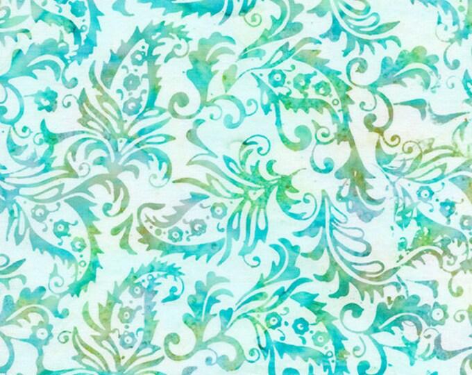 Island Batik - Paisley Outlining - Paisley Batik - Paisley - Batik - Teal/White - Sold by the Yard