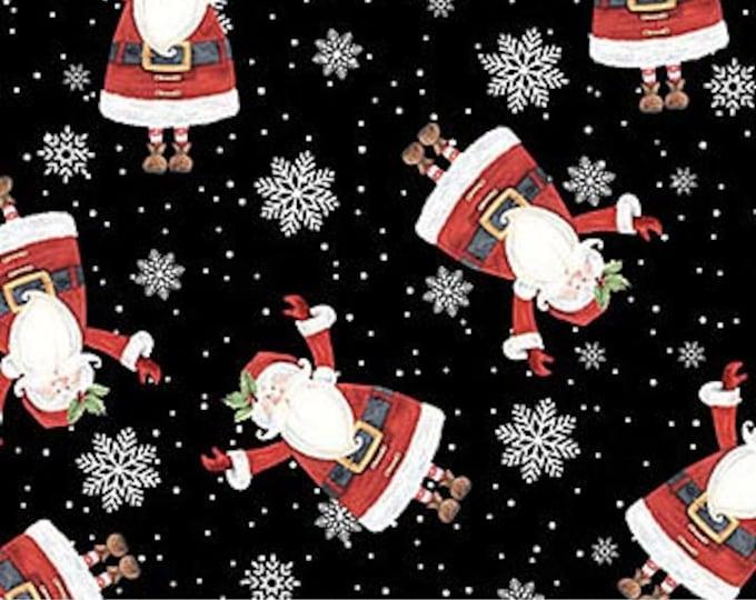 Northcot  - Double Decker Christmas - Xmas - London Themed Bus - Christmas Bus - Santa - 22904-99 - By Karen Tye Bentley - Sold by the Yard