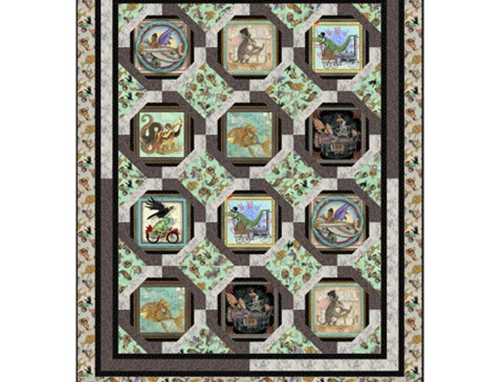 "Quilting Treasures - Fantasy & Fiction - Quilt Pattern - Steam Punk - Steam Punk Animals - 59""x74"" - Paper Pattern Only -Sold by the Pattern"
