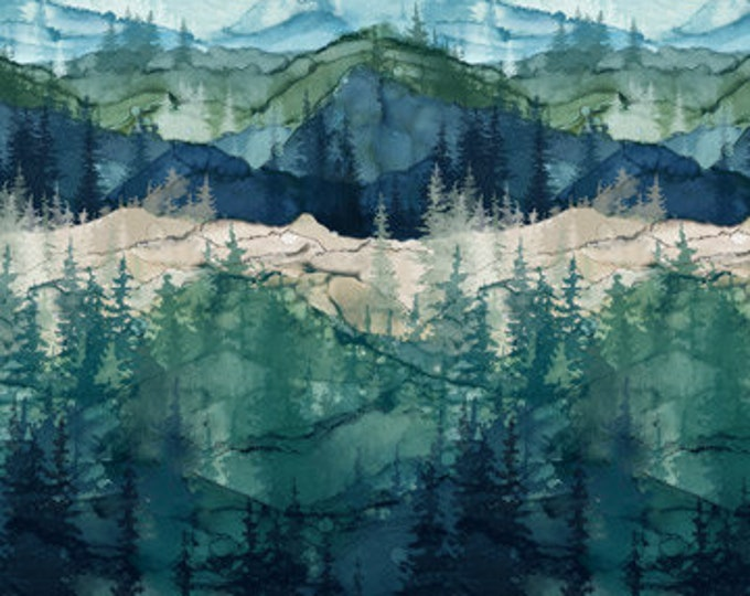 """NEW SHIPMENT -  Northcott  - Whispering Pines - DP23751-46 - Ombre Mountain-Mountain-Scenic Mountains - 36""""x44"""" - Sold by the Yard"""