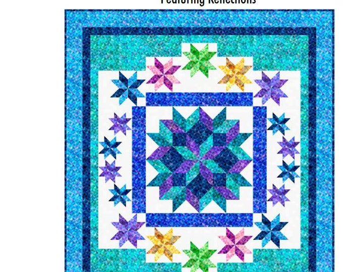 "Quilting Treasures - Captured Reflections - Reflections - Quilt Kit - Binding Included - Quilt Kit - 67""x75"" - Sold by the Kit - Free Ship"