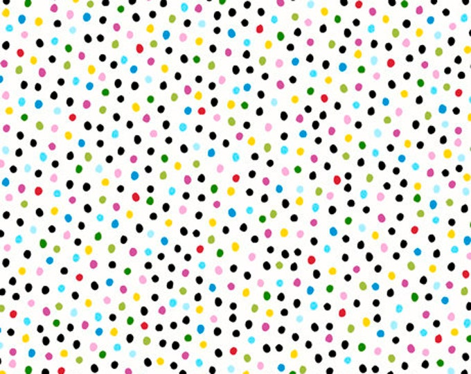Quilting Treasures - Sew Sassy - Sewing Ladies - Dots - White - 26788Z - Sold by the Yard