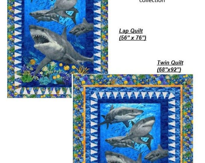 New - Northcott - Shark Bites Pattern - Quilt Pattern -  PTN2746-10 - Sold by Pattern