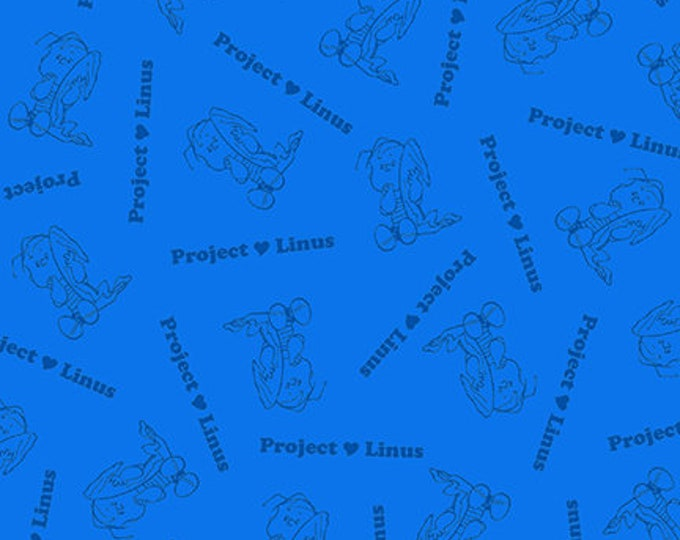 Quilting Treasures - Project Linus - Linus Blender - Royal - Peanuts Fabric -  Sold by the Yard