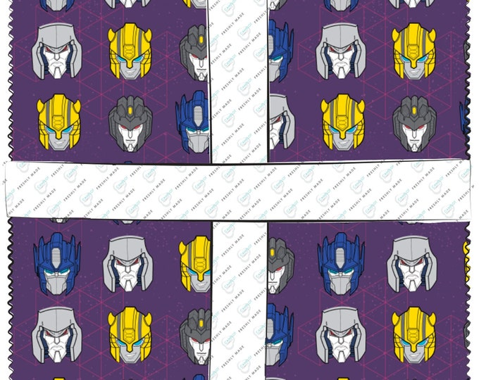 Camelot - Transformers Galaxy - In Action - Layer Cake - 95020207SQU - 42 Ten Inch Squares - Sold by the Layer Cake Bundle