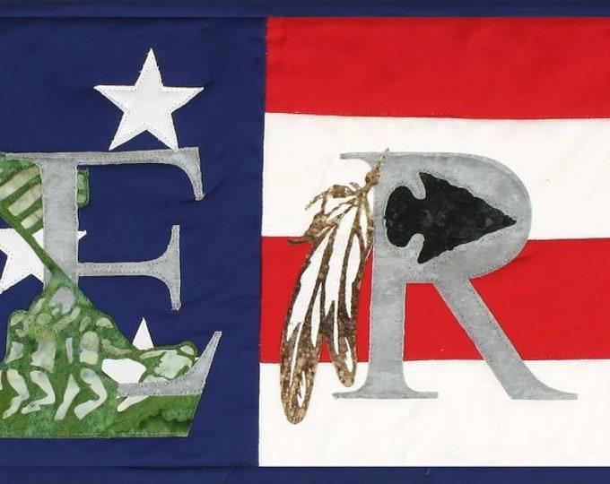 "America Banner - Precut Kit - Applique Kit - Precut/prefused Kit -  36.5""""x 9.5"" - Quilt Kit"