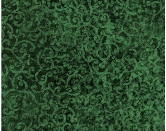 Quilting Treasures - Scrollscapes II - 24362 F -  Evergreen - Tone on Tone - Fabric - Sold by the Yard