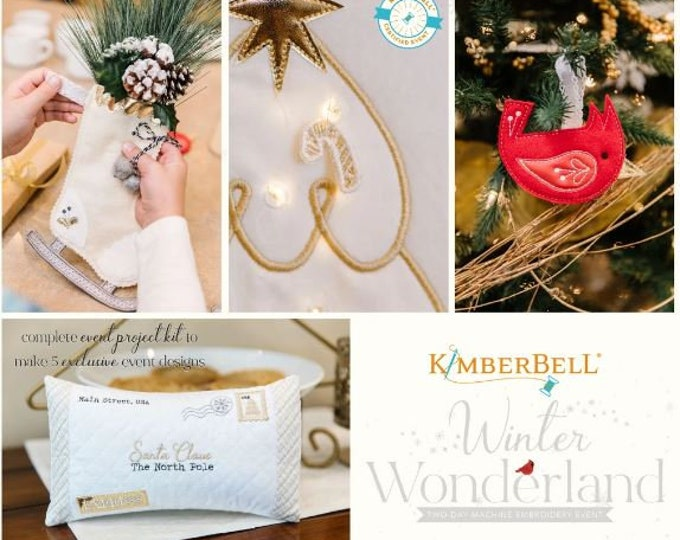 Kimberbell - Winter Wonderland - Virtual Event - Nov 14-15, 2021 - Embroidery - 2 Day Virtual Event -Class from the Comfort of your HOME