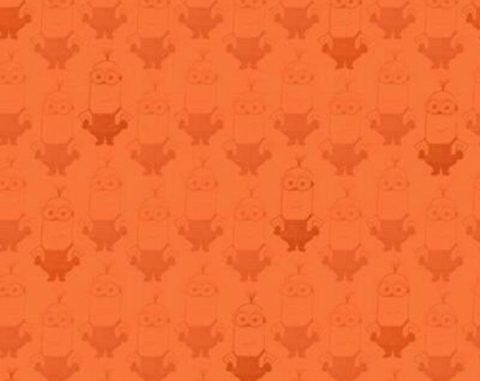 Quilting Treasures - Minions - Minion Movie - Kevin Shadow Tonal - Tone on Tone - Orange - 24316 -O - Fabric -  Sold by the Yard