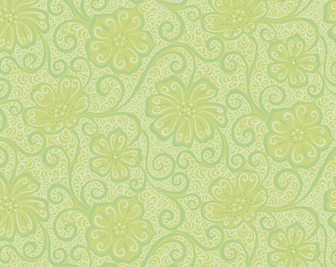 Benartex - Contempo - Meadow Dance - by Amanda Murphy - Floral Blender  - Light Green - 4044-43 - Sold by the Yard