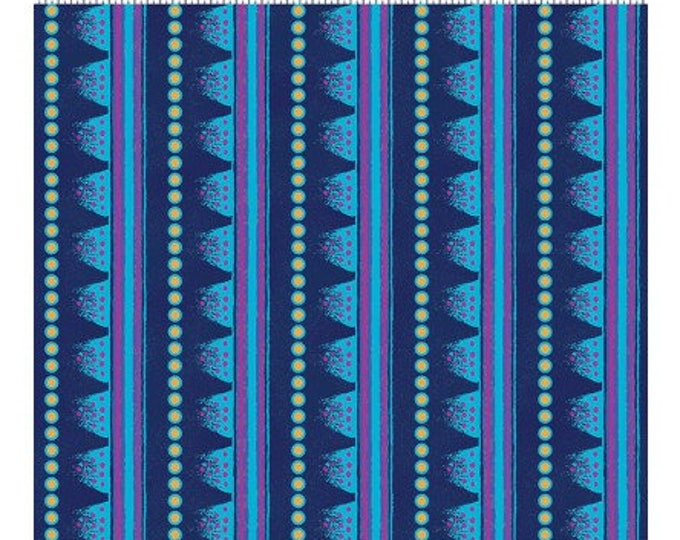 Laurel Burch - Laurel Land - Navy - Y1783-53M - Yard - Metallic