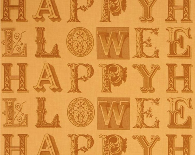 Quilting Treasures - Sew Scary - Halloween - Halloween letters - Pumpkin Orange -  Sold by the Yard