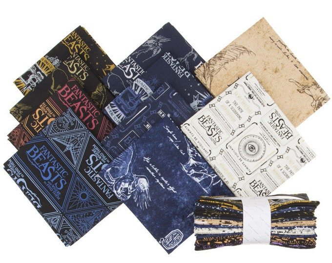 Camelot - Harry Potter - Wizarding World - Fantastic Beasts & Where to Find Them - 10 Fat Quarters - Fat Quarter Bundle