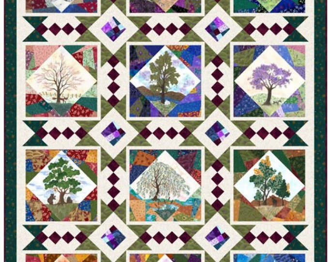 "Quilting Treasures - His Majesty - The Tree - Quilt Pattern - Tree -Seasonal Tree - 57""x75"" - Paper Pattern Only -Sold by the Pattern"