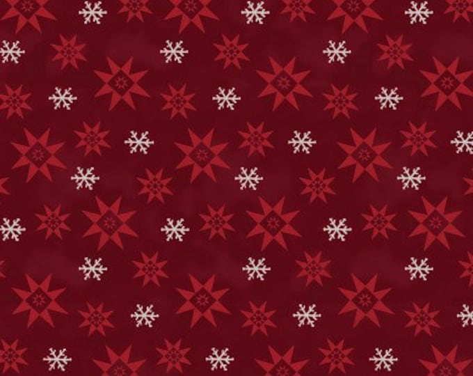 Benartex - A Quilter's Christmas  - Winter Snowflake   - Berry -  06648-19 - Sold by the Yard