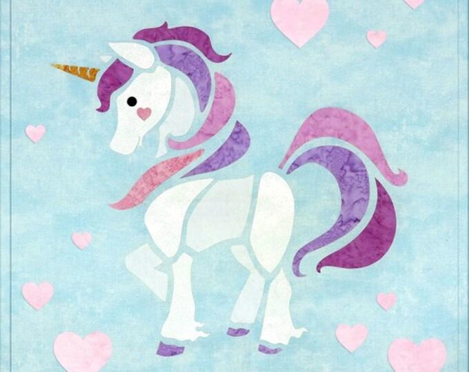 "Sew Enchanted - Unicorn - Pre-cut/fused Kit - 15""x15"" - Precut/Fused Applique Kit - precut kit -  Sold by the Kit"