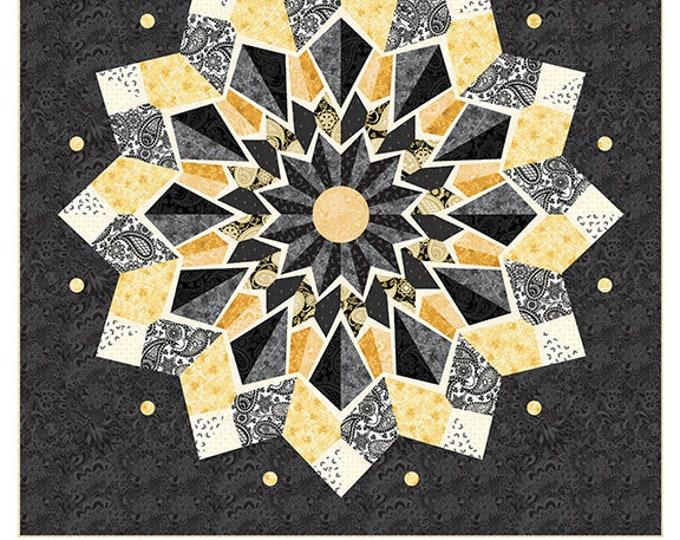 Benartex - Diamond Jubilee - Quilt Kit - Amanda Murphy  - Paper Piecing -  Kaliedoscope - Quilt Kit -  Sold by the Kit