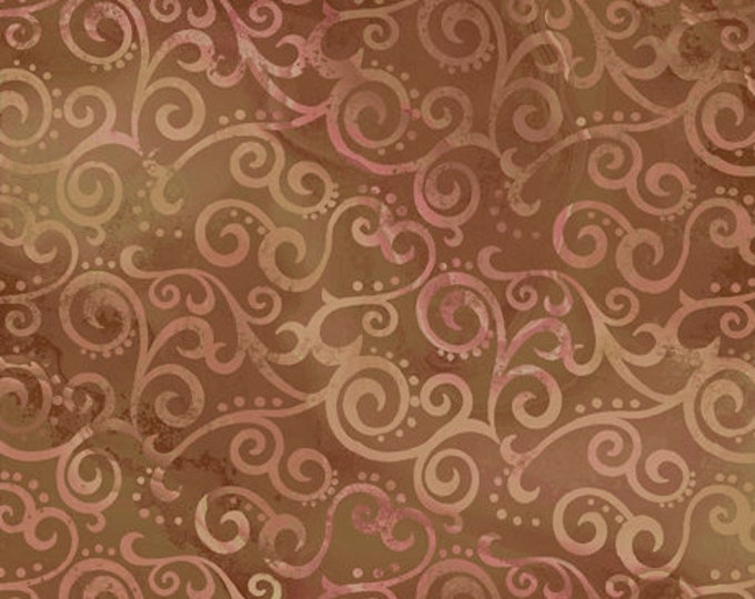 "Quilting Treasures - Ombre Scroll -  Sable -  24174A - Sold by the Yard - 36"" x 45"""