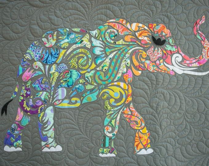All Star Elephant - Elephant Applique - Precut/Prefused - Applique Kit including Pattern