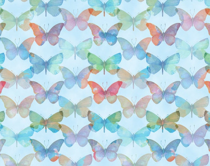 Blank Quilting - Papillon Parade - Butterfly - Blue - 9367-11 - Sold by the Yard