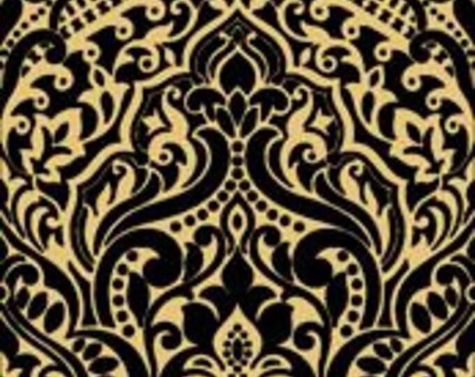 Quilting Treasures - Luminous Lace - Black / Gold - Metallic