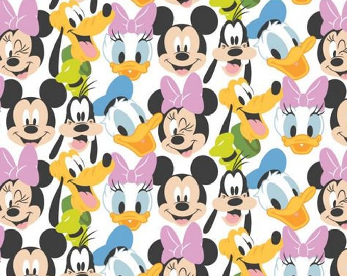 PRE_ORDER - Camelot -Mickey Mouse - Here Comes the Fun -  85271020-01 - Minnie - Donald - Pluto - Daisy - Mickey -  White - Sold by the Yard